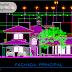 مخطط مشروع منزل عائلي كبير دوبلكس 4 اوتوكاد dwg