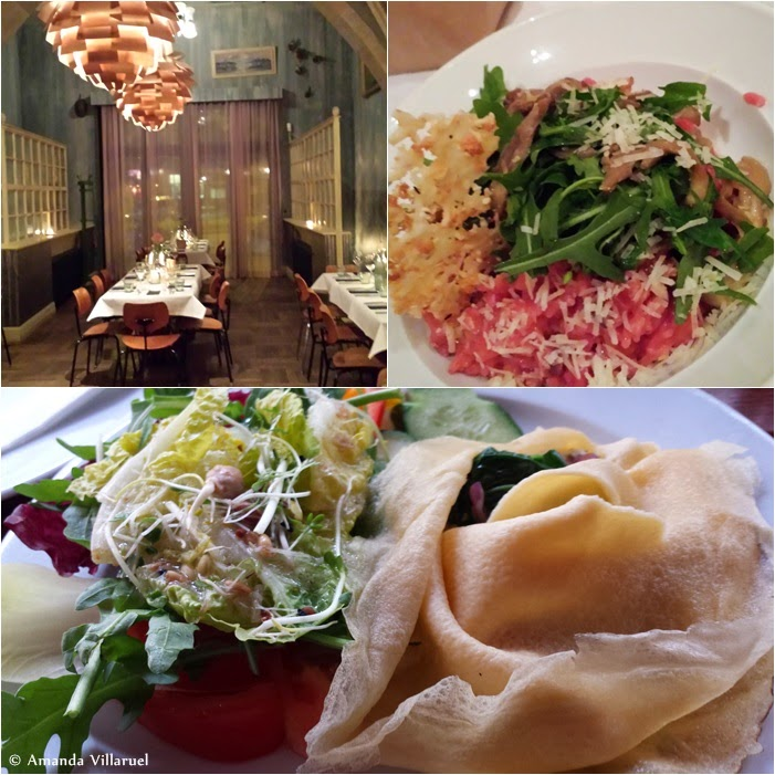 No. 1 and no. 2: Restaurant Ø, and vegetarian risotto. No. 3: Delicious crepe at Cafe Anna Blume.