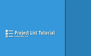 Tutorial Membuat Project List dengan HTML dan CSS