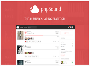 phpSound - Music Sharing Platform free Download