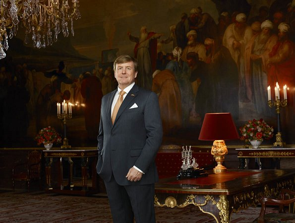 Queen Maxima, Crown Princess Catharina-Amalia, Princess Alexia and Princess Ariane. celebrate 5th anniversary of enthronement of King Willem-Alexander