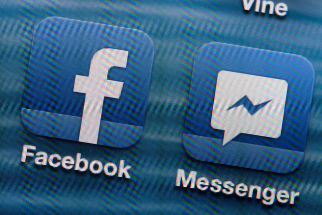 Facebook messenger app for iOS and Android for instant messaging
