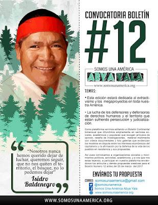 Convocatoria Boletín Continental #12 Somos una Abya Yala