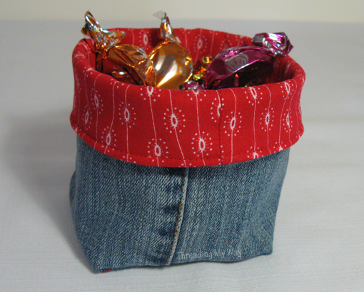 Once Again Ive Used The Legs From Pre Loved Jeans To Make Some Denim Fabric Baskets These Little Could Be For Many Things