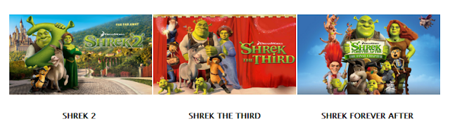 Shrek sequels on Netflix