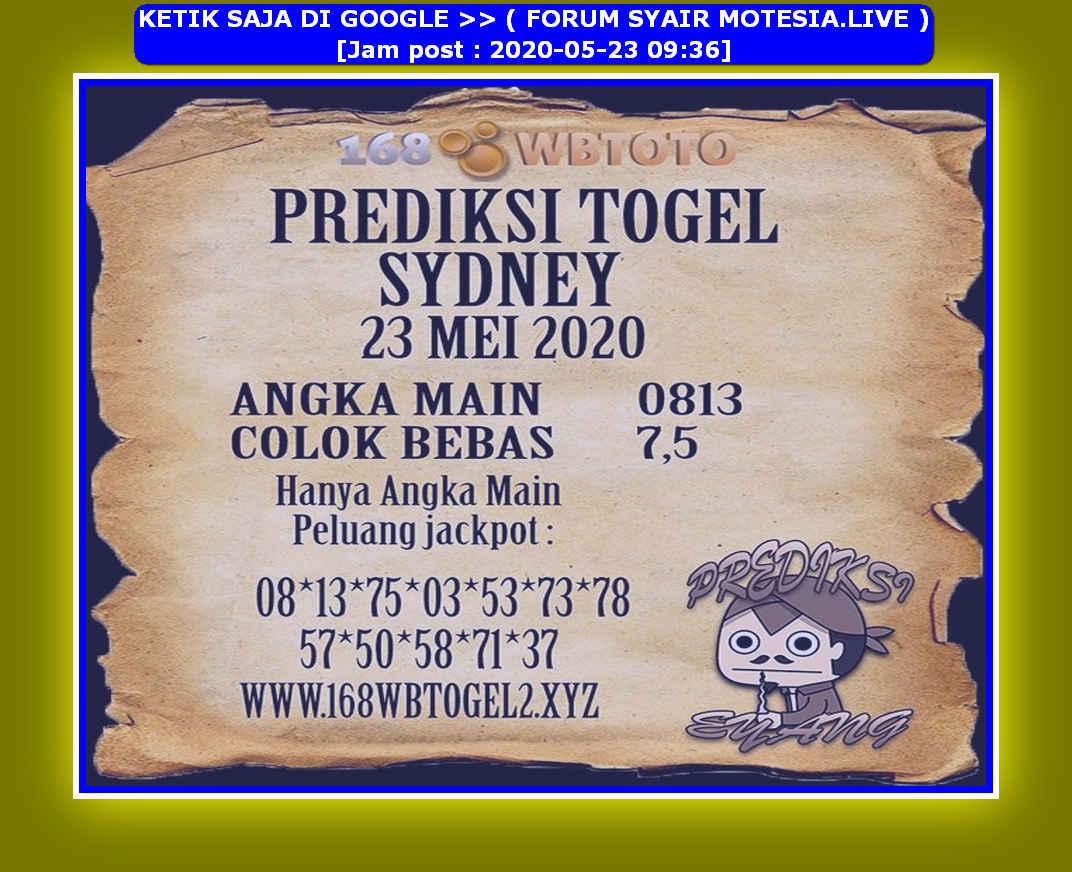 Kode syair Sydney Sabtu 23 Mei 2020 223
