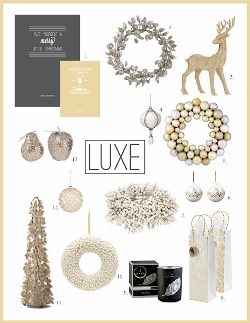 Luxe Christmas Decorating Theme from elizaellis.blogspot.com