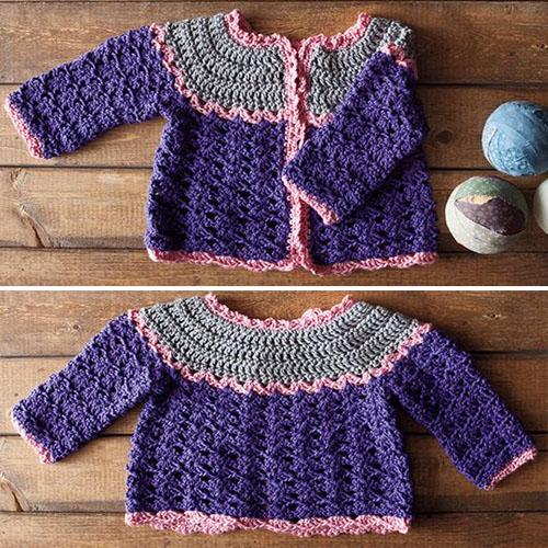 Patty Cake Crochet Cardi - Free Pattern