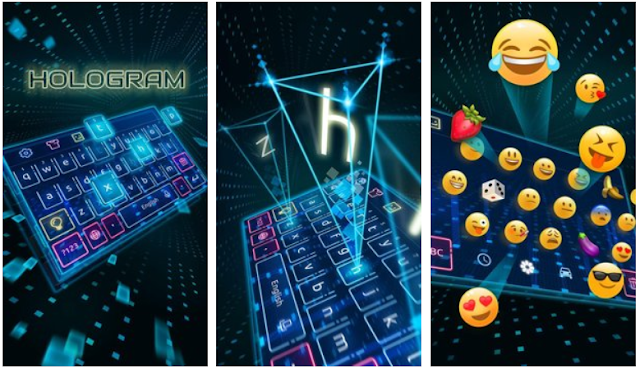 Keyboard-Hologram Neon Theme 2018 APK Download