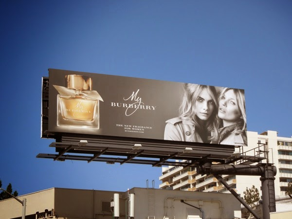 Kate Moss My Burberry fragrance billboard