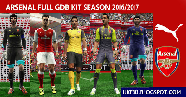 PES 2013 Arsenal New Kit 2016/17