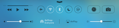 airdrop in control center ios7