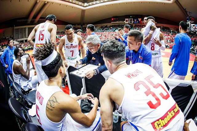 LOOK: Gilas Pilipinas Final-12 Team Lineup vs Australia 2018
