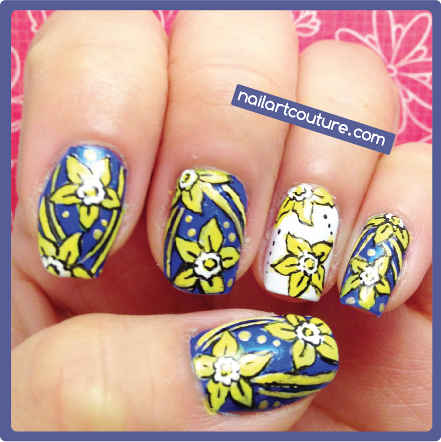 Nail Art Couture★ Daffodil Day Cancer Awareness Nails