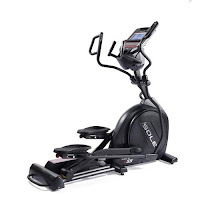New Sole E55 Elliptical Trainer 2016, with 20 lb flywheel with high gear ratio, ECB magnetic resistance, Power Incline with 20 incline levels, dual action handlebars