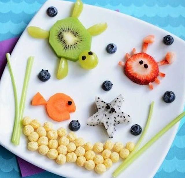 для детей оформление фруктов и овощей