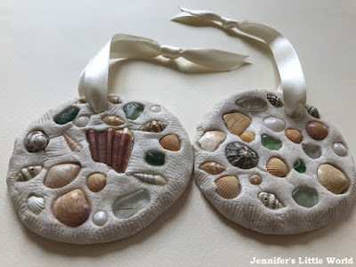 Salt dough shell mosaics