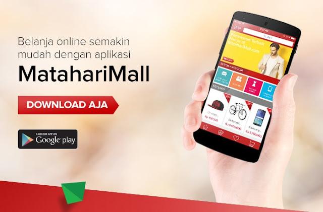 Belanja di MatahariMall.com Bisa Lewat Android Plus Gratis Voucher Rp100.000 (Limited)