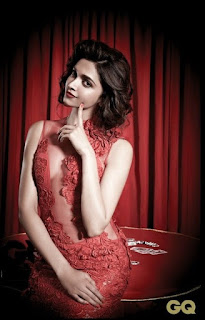 Deepika Padukone Hot Red Outfit