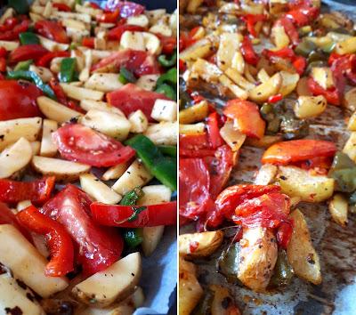 Zapiekane warzywa na ostro