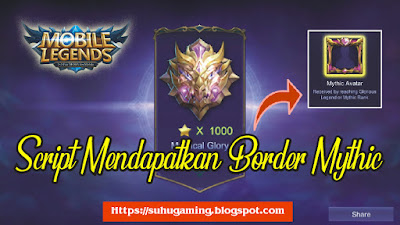 Script Bingkai/ Border Rank Mythical Glory Patch Terbaru Mobile Legends