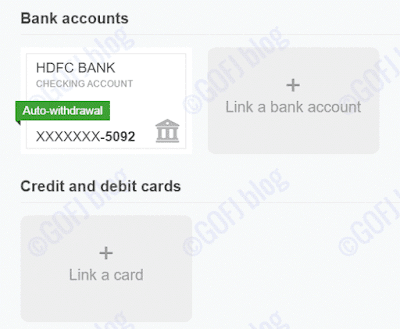 PayPal India bank account confirmed