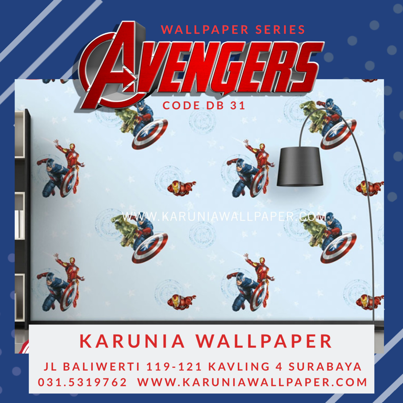 jual wallpaper superhero marvel