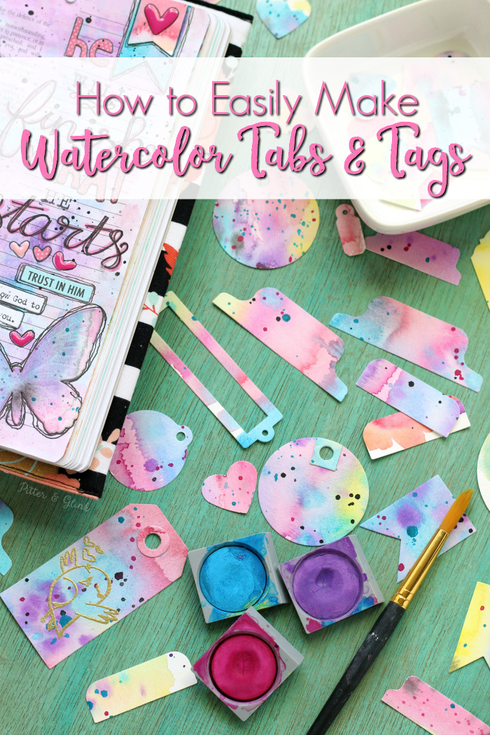 how to watercolor tabs and tags