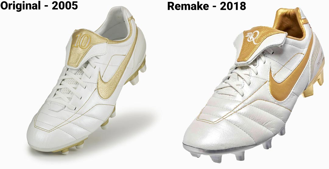b6809c02a27 Are you happy with the remake of the Nike Air Legend R10 soccer boots   Comment below