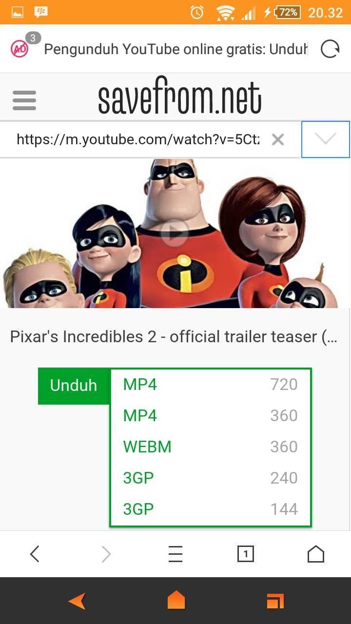 cara download video youtube dengan mengetik ss
