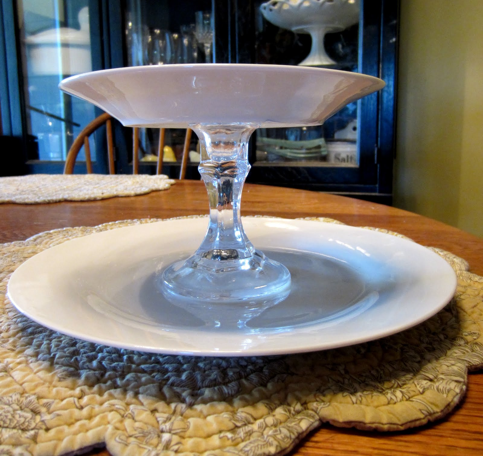 Blissfully Blessed: Dollar Store Two Tiered Dish DIY