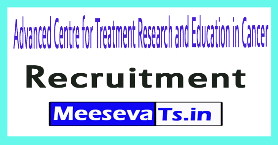 Advanced Centre for Treatment Research and Education in Cancer ACTREC Recruitment
