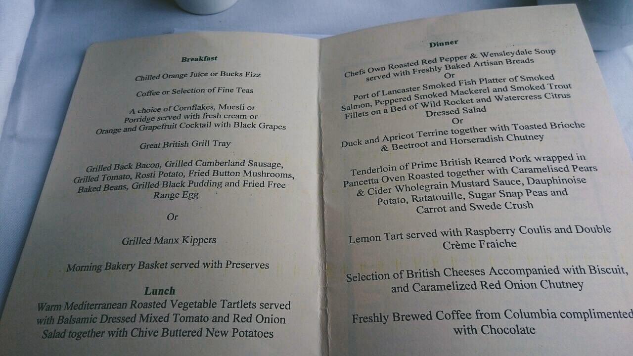 the george hotel stamford breakfast menu