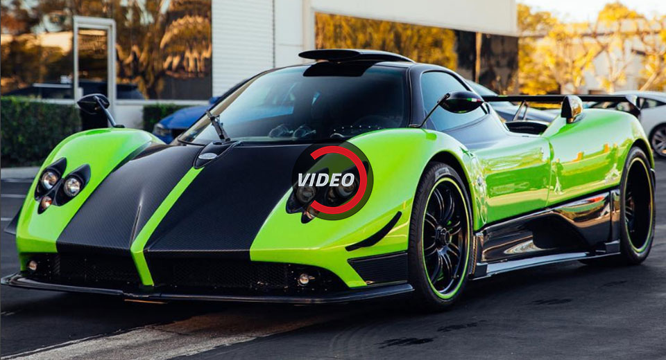 green pagani zonda cinque delivered in the u s. Black Bedroom Furniture Sets. Home Design Ideas