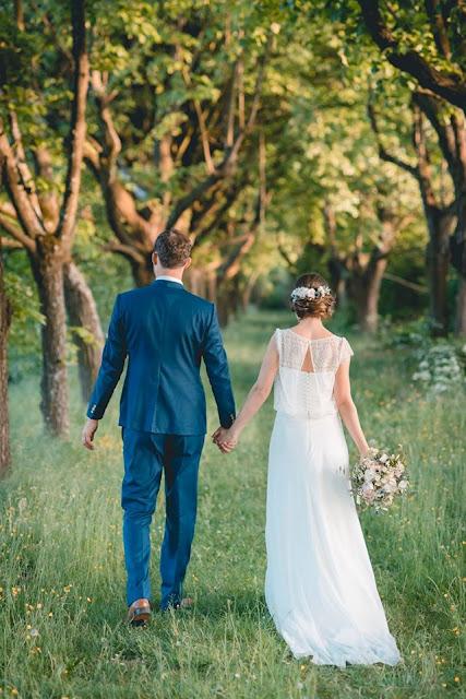 Mariage champêtre, bouquet de mariée