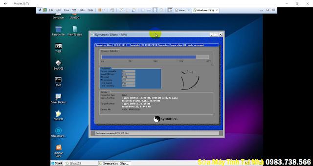Ghost win trên máy ảo VMwave - H04