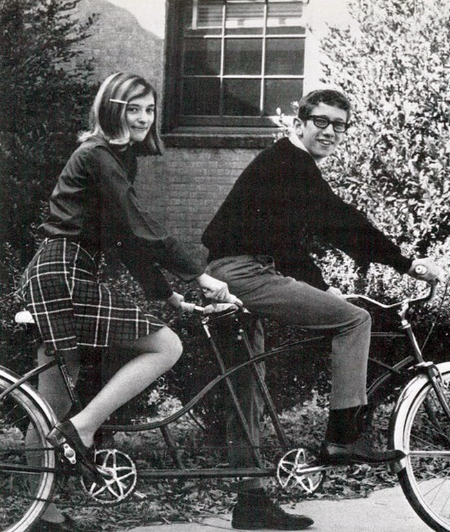 Vintage Photos Of Girls In Mini Skirts On Bikes  Vintage -5255