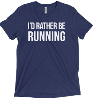 I'd Rather Be Running tee from Sarah Marie Design Studio