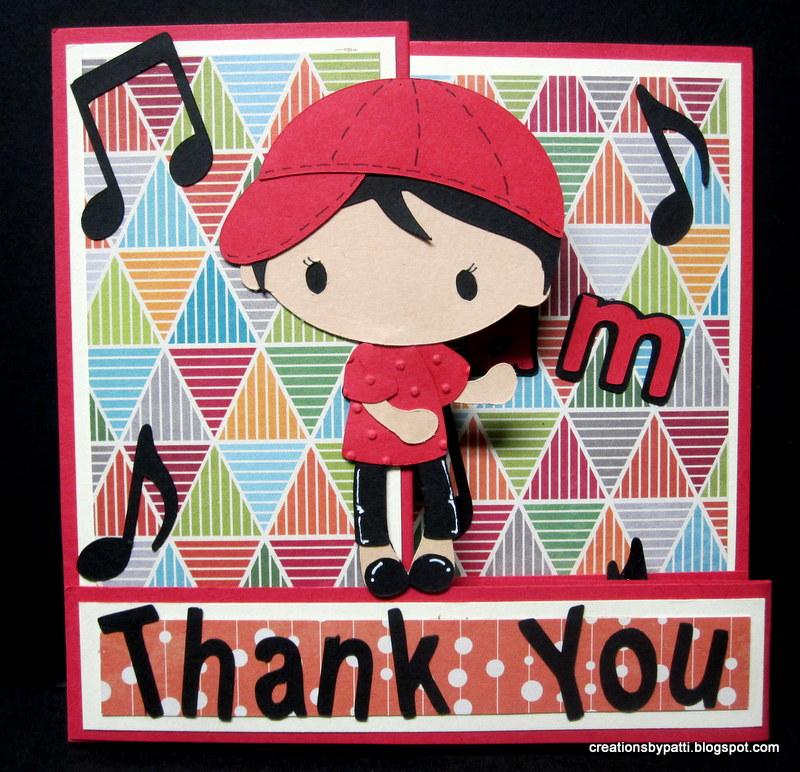 Creations By Patti U Jam Z Fold Thank You Card