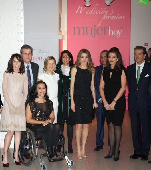 Crown Princess Letizia of Spain attended Mujer Hoy Magazine awards 2012 at ABC Museum in Madrid