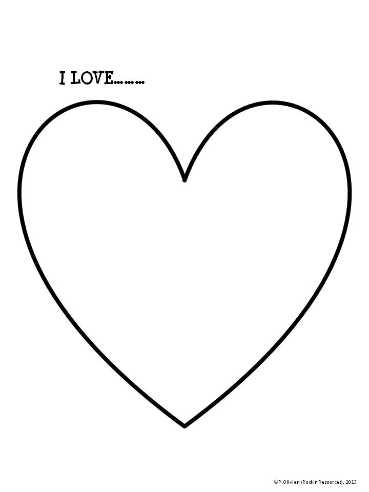 Line Art Love Heart : Writing process using narrative rockin resources