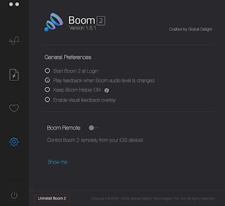 Boom Ayar Ekranı