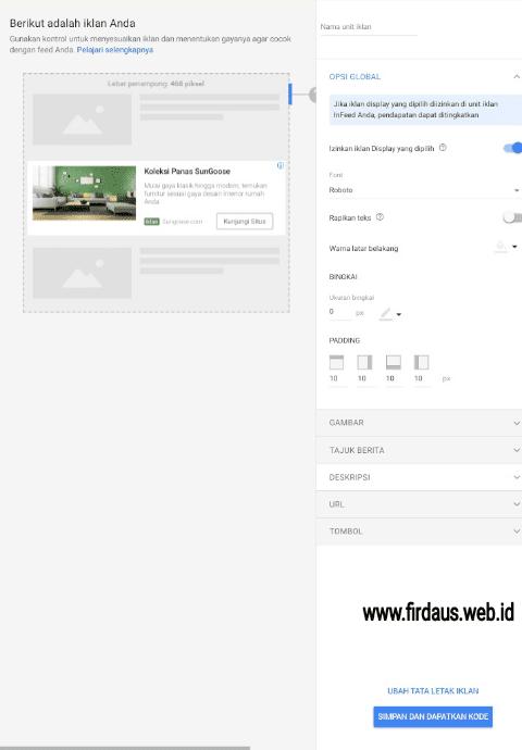 Menamai Iklan In Feed Google Adsense