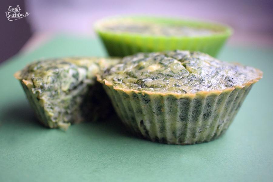 Rezept Frischkäse Spinat Muffins für Hunde Hundemuffins Hundekuchen selbst backen