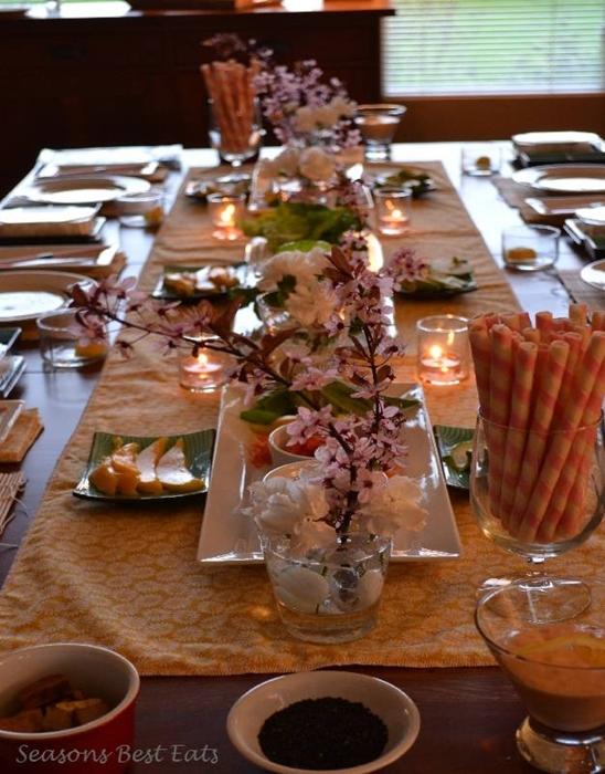 como decorar mesa almoço japones