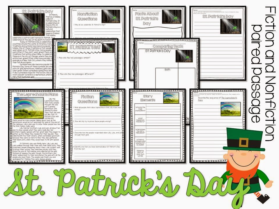 March Paired Passages- fiction story with comprehension pages, nonfiction text with comprehension pages, comparision pages- can be interactive notebook or in worksheet format