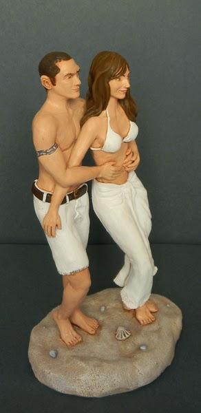 statuette ritratti fidanzato fidanzata personalizzati ricordi estate orme magiche