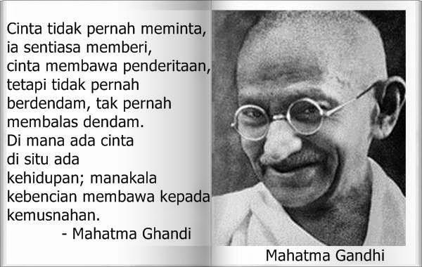 Kata Bijak Paling Indah Dari Mahatma Gandhi