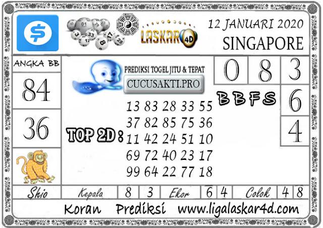Prediksi Togel SINGAPORE LASKAR4D 12 JANUARI 2020