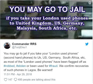 Landon used phones can land you in jail